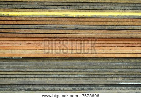 Pile of wooden plank