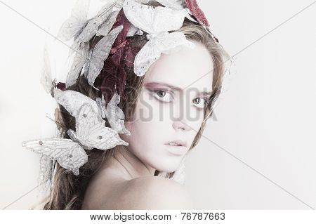 Woman With Butterflyies