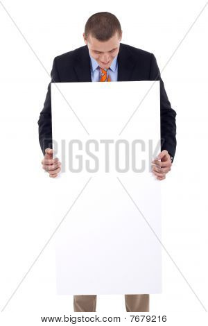 Man With Blank Board