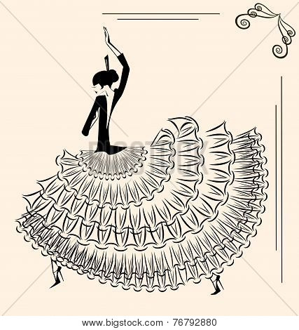 Image Of Dancer Flamenco