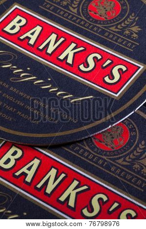 Beermats from Banks beer
