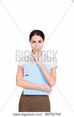 Beautiful Business Woman Habing Secret