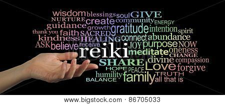 Sharing Reiki Word Cloud Website Header