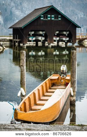 Small boat in Traunsee, Austria