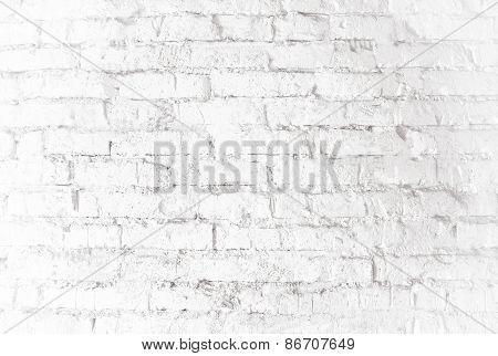 White Bricks Wall Texture Background