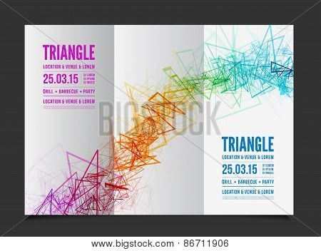 Vector abstract triangle outline