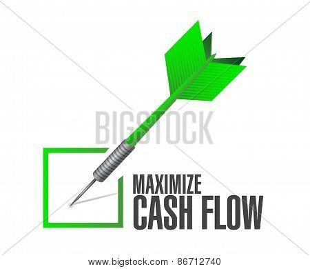 Maximize Cash Flow Check Dart Sign