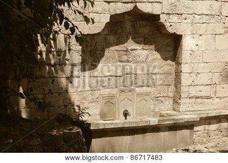 Water Tap In A Fortification Wall.kalemegdan.