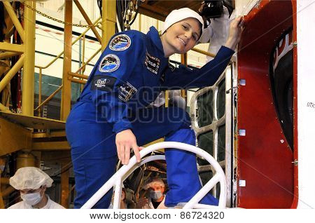Samantha Cristoforetti Before Fit Check In Baikonur