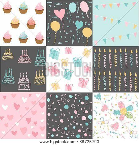 Set of Birthday