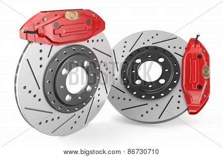 Car Discs Brake And Caliper