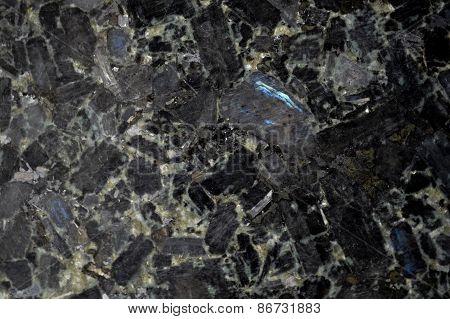 Black Granite Stone Background