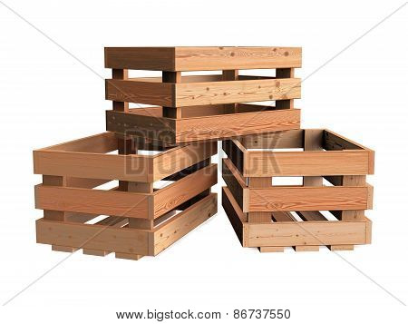 Heap Of Wooden Crates
