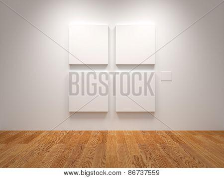 Four Blank Canvas