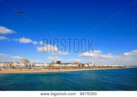 Day View Of Brighton In East Sussex On The South Coast Of Great Britain