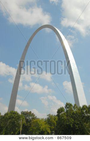 St Louis arch against blue sky
