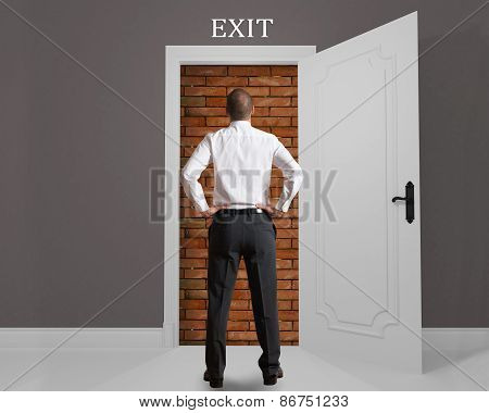 Obstructed exit
