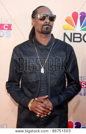 LOS ANGELES - MAR 29:  Snoop Dogg at the 2015 iHeartRadio Music Awards at the Shrine Auditorium on March 29, 2015 in Los Angeles, CA