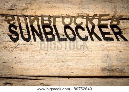 Wooden Letters Build The Word Sunblocker