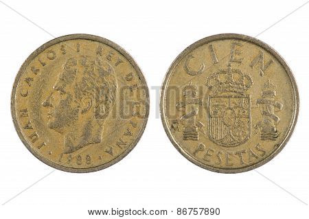 Spain Coin Isolated