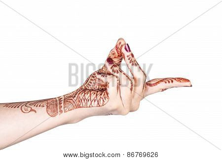 Bronchial Mudra With Henna