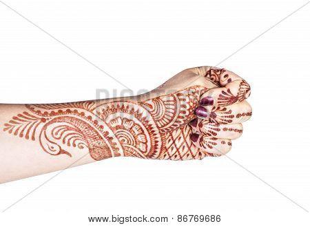 Adi Mudra With Henna