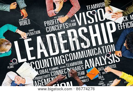 Leadership Boss Management Coach Chief Global Concept poster