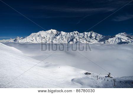 Mont Blanc massive, panoramic