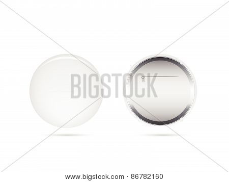 Blank Button Pin
