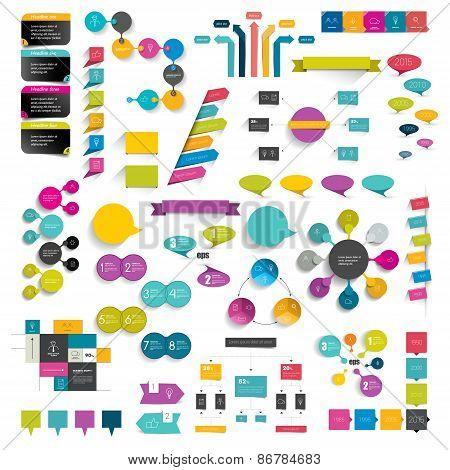 Flat Design Diagrams.