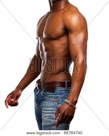 Healthy Muscular Man With No Shirt