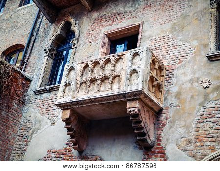 Juliet's balcony in Verona Italy  romeo, juliet, house, poster