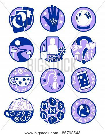 Psychic Icons Blue Mauve