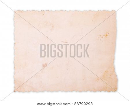 Vintage photo card saved with clipping path