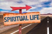 Spiritual Life sign with road background poster