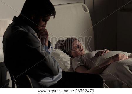 Father And His Dying Daughter