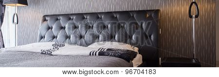 Close-up Of Comfortable Bed