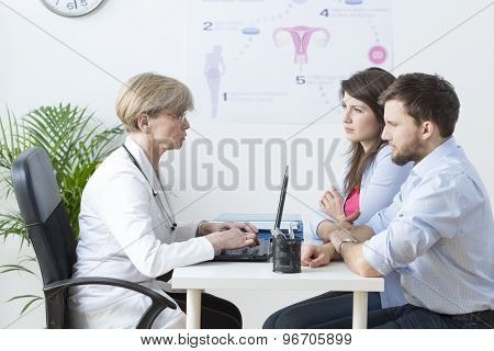 Young Couple Visiting A Gynecologist