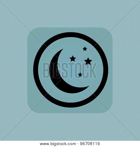 Pale blue night sign