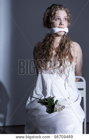 Victim With Gagged Mouth