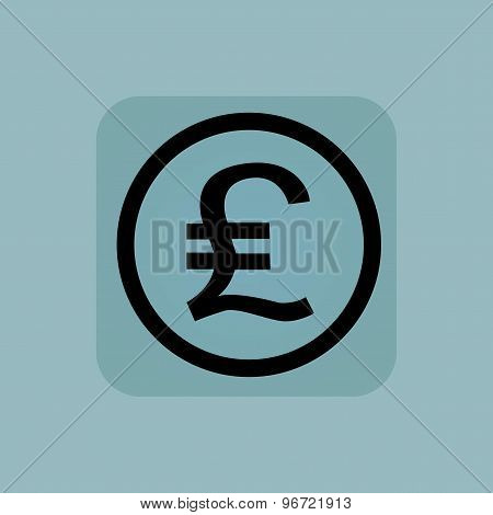 Pale blue pound sterling sign