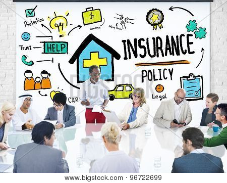 Diversity Business People Insurance Policy Conference Concept