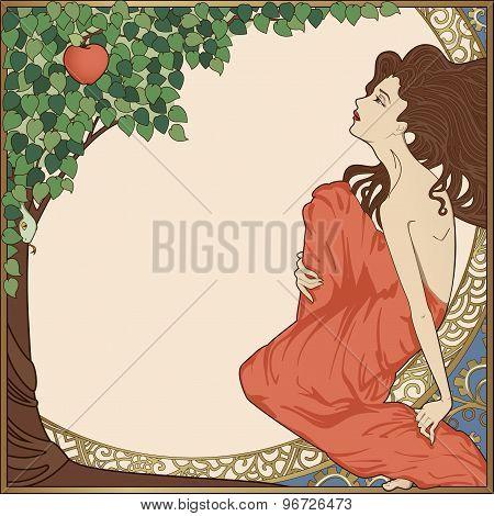 Art-Nouveau Woman