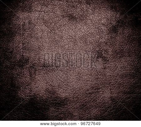 Grunge background of deep taupe leather texture