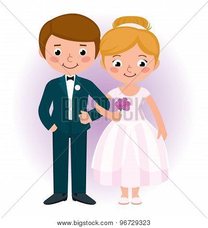 Couple Newlyweds Bride And Groom