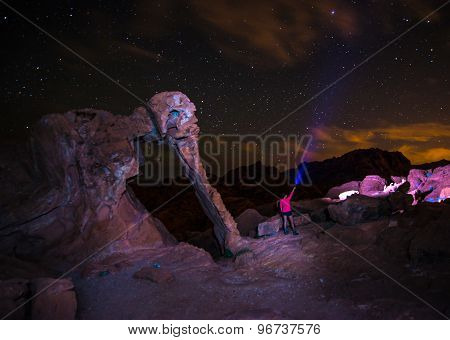 Elephant Rock At Night