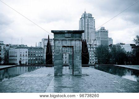 Temple Of Debod, Madrid - Monochrome
