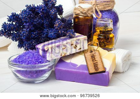 Lavender Handmade Soap And Accessories For Body Care
