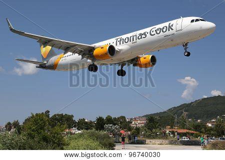 Thomas Cook Airbus A321 Airplane Skiathos Airport