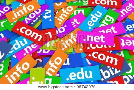 Domain Names Web Concept